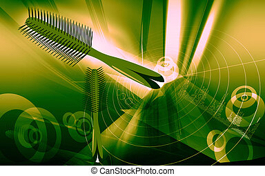 comb - Illustration of straight spiral comb