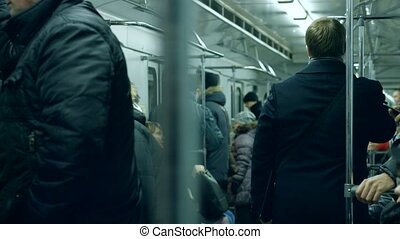 People in the subway.