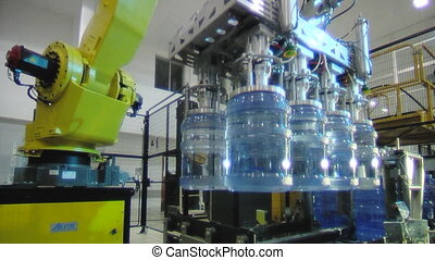 bottled water factory 005 - Servo-controlled robot in the...