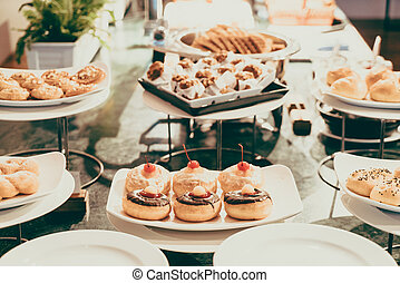 Catering buffet - Selective focus point on Catering buffet...
