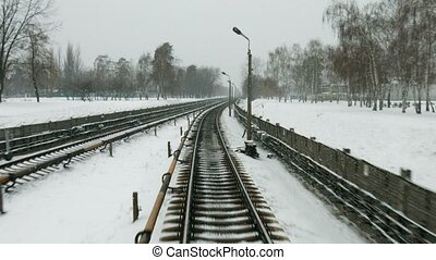 Railway in the winter.