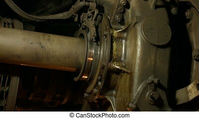 Details of vehicles. - Huge mechanisms. Running gear train....