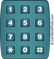 Classic landline telephone keypad isolated on white vector