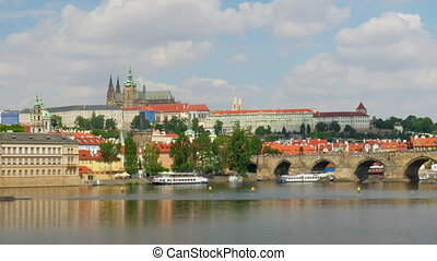 quot;charles bridge and castle view, prague, zoom out,...