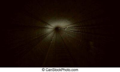 Metro tunnel. Bomb shelter. Underground tunnel. Railroad...