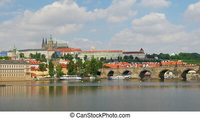 """charles bridge and castle view, prague, czech republic,..."