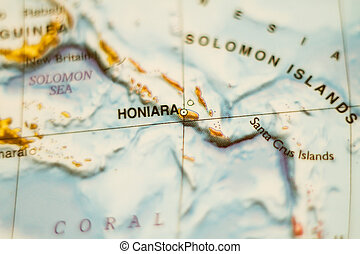 Solomon, Isole, Paese, mappa, .,