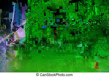 Television broadcast failure - Scrambled cable TV broadcast...