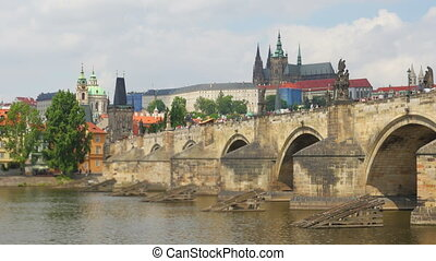 quot;charles bridge and castle view, prague, zoom in,...