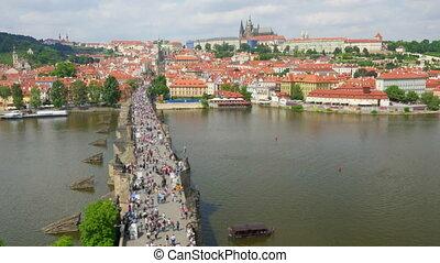 """""""charles bridge and castle view, prague, czech republic,..."""