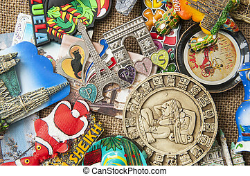 colorful fridge magnets - fridge magnets from around the...