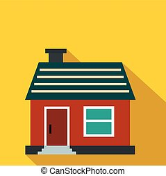 Small cottage flat icon
