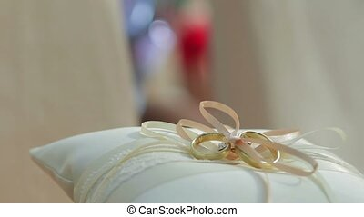 Beautiful wedding rings.