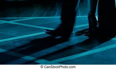 Lovers dancing on the dance floor.