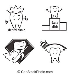 Dental symbol collection Clean and bright designs - Dental...