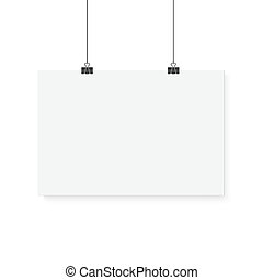 Isolated Vector Poster Mockup. Realistic Vector EPS10 Paper...