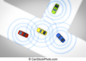 connected autonomous cars - An image of some connected...