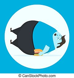 Man died from overeating. Unhealthy food