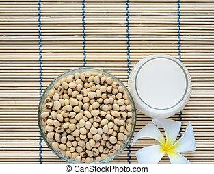Fresh Soy milk and soybean seeds - Fresh Soy milk Soya milk...