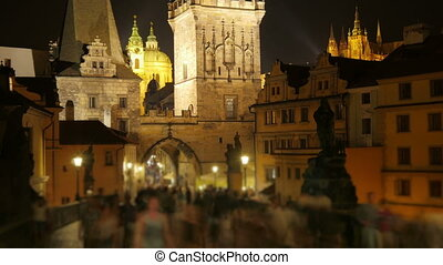 """charles bridge and castle view, prague, zoom out,..."