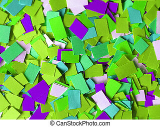 Confetti - Many coloured carnival confetti useful as a...