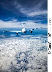 Passenger Airliner in the sky - Passenger Airliner flying in...