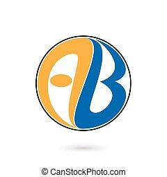 A and B Alphabet logo