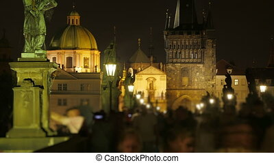 """""""charles bridge and castle view, prague, zoom out,..."""