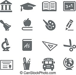 Education Icons - Vector icons for your digital or print...
