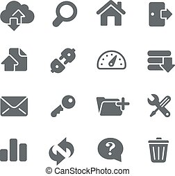 FTP and Hosting Icons - Vector icons for your digital or...