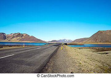 Road on the Snaefellsnes peninsula in Iceland