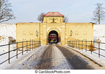 King Gate at Kastellet in Copenhagen in winter - King Gate...