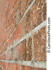 Brick wall in perspective view in high contrast style