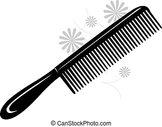 comb	 - Illustration of straight comb in white background