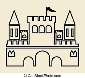Vector illustrations of the Castle