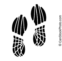 Vector illustration of footprints - Vector illustration of...