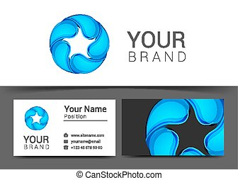 Business Card with water drop. Vector illustration