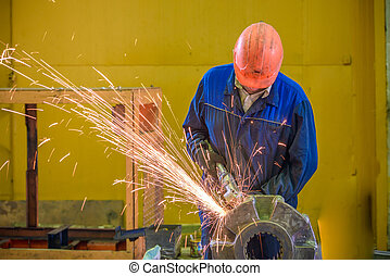 Welder with protective mask