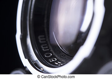 close up of camera lens