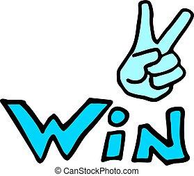 win icon - Creative design of win icon