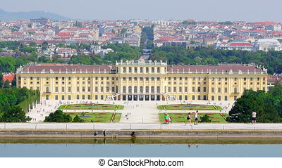 """schonbrunn palace, vienna, austria, timelapse, zoom out, 4k"""