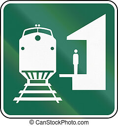 United States MUTCD road sign - Train station