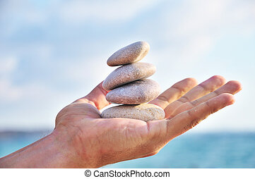 balance, harmony and idyll are in you own hands - balancing...