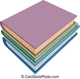 Stack of books isometric projection