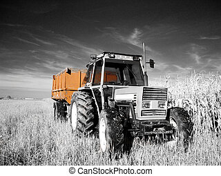 Infrared tractor - True infrared picture of a tractor...