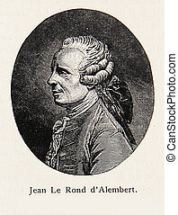 Jean Le Rond d' Alembert - engraving portrait