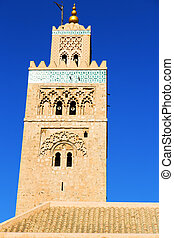 maroc and the blue - in maroc africa minaret and the blue...