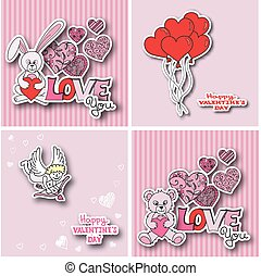 Valentines day cards collection