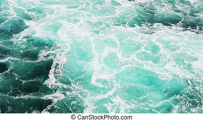 Seawater with sea foam_2 - Seawater with sea foam behind a...