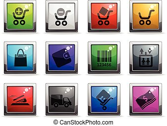 Shopping icons set - Shopping vector icons for web sites and...